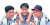 1994년 신인 삼총사로 주목 받던 당시의 서용빈(왼쪽), 김재현(오른쪽)과 함께 한 류 감독. 중앙포토, [연합뉴스]