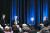 2019년 브루킹스 연구소 세미나에 모인 전현직 Fed 의장들. 왼쪽 두번째부터 제롬 파월 현 의장, 옐런과 벤 버냉키 전 의장. 옐런과 버냉키는 브루킹스 연구소에 적을 두고 있다. AFP=연합뉴스