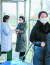 북한 노동신문은 9일 평양 대동강변 미래과학자 거리에 위치한 기상수문국에서 방역활동을 하는 주민들의 모습을 소개했다. [사진 노동신문]