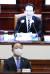 홍남기 경제부총리 겸 기획재정부 장관(아래)이 지난 18일 정부서울청사에서 열린 회의에서 정세균 총리의 모두 발언을 듣고 있다. 뉴스1