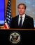 토니 블링컨 미국 국무장관이 취임 당일인 지난 1월 27일(현지시간) 첫 기자회견을 열고 바이든 행정부의 외교방향을 설명하고 있다. 이날 회견에서 한국(Korea)란 단어는 한번도 등장하지 않았다. [로이터=연합]