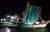 충남 금강하구 인근에서 사각틀망을 이용해 불법으로 실뱀장어를 포획하는 어선. [사진 충남도]