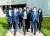 서훈 청와대 국가안보실장, 제이크 설리번 미국 백악관 국가안보보좌관, 기타무라 시게루 일본 국가안보국장(오른쪽부터)이 지난 2일 미국 워싱턴DC 인근 아나폴리스의 해군사관학교에서 열린 한·미·일 안보실장 3자 회의에서 함께 걸어가며 대화하고 있다. [사진 외교부]