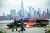 지난 2일(현지시간) 미국 뉴저지에서 바라본 뉴욕 맨해튼의 모습. 맨해튼은 코로나19 여파로 최근 1년 집값이 4% 하락했다. [로이터=연합뉴스]