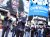 지난 14일 코인베이스 임직원들이 미 증시 상장을 축하하는 모습. UPI=연합뉴스