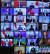 조 바이든 미국 대통령이 4월 22일 화상으로 열린 기후정상회의에 모두발언을 하는 동안 시진핑 중국 국가주석, 스가 일본 총리 등 각 국 정상들이 영상으로 발언을 듣고 있다. [청와대사진기자단]