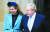 보리스 존슨 영국 총리와 약혼녀 캐리 시먼즈. AP=연합뉴스