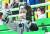 지난달 4일 인천 SSG랜더스필드를 찾아 신세계푸드 캐릭터 '제이릴라'와 사진을 찍는 정용진 부회장. [뉴시스]