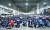 전국택배노조는 9일부터 쟁의권 있는 조합원들이 무기한 파업에 돌입한다고 밝혔다. 택배노조원들이 8일 결의 대회에서 구호를 외치고 있다. [뉴스1]