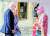 영국 엘리자베스 2세 여왕(오른쪽)과 조 바이든 미국 대통령 부부가 13일(현지시간) 영국 런던 윈저성에서 만나 인사하고 있다. [AFP=연합뉴스]
