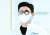 도쿄올림픽 로고 눈가리개를 쓴 사격 진종오. 장진영 기자