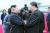 김정은 북한 국무위원장(왼쪽)이 지난 2019년 6월 21일 평양 순안공항에서 북한 방문을 마친 시진핑 중국 국가주석을 환송하고 있다. [조선중앙통신=연합뉴스]