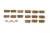 15세기 제작으로 추정되는 한글·및 한문 금속활자 1600여 점이 담긴 항아리가 서울 인사동 땅 속에서 나왔다. 사진은 '하며' '하고' '이나' 등 한글토씨 두개를 한번에 주조한 연주활자들. [사진 문화재청]