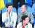 지난 2016년 8월 브라질 리우올림픽에서 함께 양궁 경기를 관람하는 정몽규 대한축구협회장(왼쪽)과 정의선 대한양궁협회장. [중앙포토]