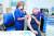 이스라엘 텔아비브 인근 심장혈관센터에선 12일 면역력이 약화한 사람을 대상으로 화이자 백신 3차 접종을 하고 있다. [AFP=연합뉴스]