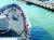 청해부대 34진 문무대왕함이 21일 아프리카 현지 항구에서 출항하고 있다. 국방부