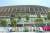 23일 개회식이 열리는 도쿄올림픽 스타디움은 코로나19 확산을 막기 위해 일반인의 출입을 통제하고 있다. 장진영 기자
