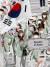 대한민국 배구 여제 김연경과 남자 수영 황선우 선수가 태극기를 들고 입장하고 있다. 도쿄=올림픽사진공동취재단