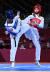 장준이 24일 도쿄 마쿠하리 메세 A홀에서 열린 도쿄올림픽 남자 태권도 58㎏급 준결승에서 튀니지 칼릴에게 공격을 시도하고 있다. 도쿄=올림픽사진공동취재단