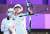 안산이 25일 도쿄 올림픽 양궁 여자단체 결승전에서 활시위를 당기고 있다. 안산은 혼성과 여자 단체를 석권하면서 2관왕이 됐다. [연합뉴스]