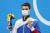 2020 도쿄올림픽 남자 배영 100m 금메달리스트 러시아올림픽위원회(ROC) 예브게니 릴 로프. TASS=연합뉴스
