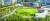 축구장 크기의 5배 규모에 달하는 단지 중앙공원 '보타닉 파크 플라자' 투시도.