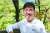 2018년 규슈올레 개막 행사에 참석했던 배우 류승룡씨. 유명 배우답지 않은 소탈한 모습으로 일정 내내 올레꾼과 어울렸다. 손민호 기자