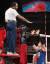 여자배구 김연경이 4일 도쿄올림픽 8강전 터키전에서 주심에 항의하고 있다. [뉴스1]