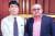 2011년 마카오의 호텔 카페에서 김정남과 만난 고미 요지 도쿄신문 논설위원(왼쪽). [중앙포토]
