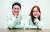 도쿄올림픽 기계체조 남자 도마 금메달리스트 신재환(왼쪽)과 여자 도마 동메달리스트 여서정이 서로를 격려하며 활짝 웃었다. 임현동 기자