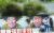 지난 21일 전남 신안군 암태도 기동삼거리에 설치된 벽화 앞에서 관광객들이 사진을 찍고 있다. 프리랜서 장정필