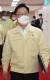 박범계 법무부 장관이 17일 오전 서울 종로구 정부서울청사에서 영상으로 열린 국무회의에 참석하고 있다. 뉴스1