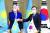 문재인 대통령이 17일 청와대에서 카심조마르트 토카예프 카자흐스탄 대통령과 기념촬영을 하고 있다. 두 정상은 회담 전 열린 고 홍범도 장군 훈장 추서식을 함께 했다. [청와대사진기자단]