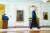 16일(현지시간) 백악관 에서 아프간 정권 붕괴 이후 처음으로 대국민 연설을 한 뒤 퇴장하는 조 바이든 대통령. 그는 기자들의 질문도 받지 않았다. [AP=연합뉴스]