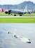 지난 16일 한반도 인근으로 출격해 북한을 감시한 미군 정찰기 코브라 볼(RC-135Sㆍ사진 위)과 E-8C 조인트 스타즈(J-STARS) 사진 EPA=연합뉴스