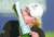 AIG 여자오픈 우승자 안나 노르드크비스트가 트로피에 입맞추고 있다. [AP=연합뉴스]