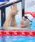 조기성이 25일 오후 도쿄 아쿠아틱센터에서 열린 2020 도쿄 패럴림픽 수영 남자 50m 평영(SB3) 결승전에서 1위를 향해 박수를 보내고 있다. 조기성은 6위를 차지했다. [뉴스1]