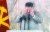 """김정은 북한 국무위원장이 지난해 10월 10일 평양 김일성 광장에서 열린 당창건 기념 열병식에 참석해 연설도중 """"주민들에게 미안하다""""며 울먹이고 있다. [연합뉴스]"""