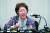 일본군 위안부 피해자 이용수 할머니가 지난해 5월 대구 수성구 만촌동 인터불고 호텔에서 기자회견을 하고 있다. 뉴스1