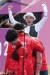 양국 국가대표 김제덕이 7월 26일 도쿄올림픽 양궁 남자단체전 준결승전에서 승리한 뒤 환호하고 있다. 연합뉴스