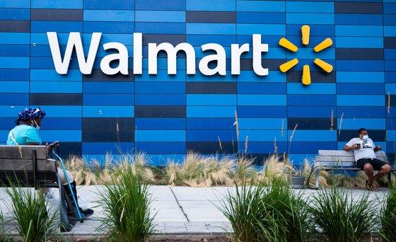 지난해 7월 미국 워싱턴의 월마트 매장 앞의 모습. [AFP=연합뉴스]