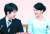 나루히토 일왕의 조카 마코(오른쪽) 공주와 배우자인 대학 동기 고무로 게이. [AP=연합뉴스]