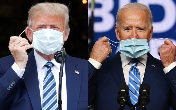 도널드 트럼프 전 대통령(왼쪽)과 조 바이든 미국 대통령. [AFP·로이터=연합뉴스]