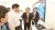 지난 7월 16일 런정페이(오른쪽 두번째) 화웨이 회장이 구이저우 화웨이 클라우드센터에서 리잔수(왼쪽) 전인대 위원장을 영접하고 있다. [CC-TV 캡처]