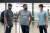 15일 세계선수권 출전을 위해 미국으로 떠난 남자 양궁 대표팀 김우진(왼쪽부터), 오진혁, 김제덕. [뉴스1]