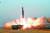 북한이 지난 3월 공개한 탄도미사일 발사장면. 조선중앙TV=연합뉴스