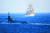 미국의 오하이오급 핵잠수함 조지아호( 왼쪽)와 순양함 포트 로열호 가 페르시아만의 원유 수송로인 호르무즈 해협을 항해하는 사진이 2020년 12월 21일(현지시간) 공개됐다. 미 핵잠수함 공개는 매우 이례적이다. [AP]