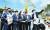 이재명 경기도지사의 대장동 개발 특혜 의혹을 '대장동 게이트'로 규정한 국민의힘 의원들이 16일 대장동 현장을 둘러보고 있다. [국회사진기자단]