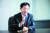더불어민주당을 탈당하고 국민의힘에 입당한 오제세 전 의원이 10일 오후 서울 마포구 상암동에서 중앙일보와 인터뷰하고 있다. 오 전 의원은 4선을 하며 16년간 민주당에 몸담았다. 장진영 기자