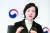 유은혜 부총리 겸 교육부 장관이 지난 2월 26일 서울 광화문 서울청사에서 중앙일보와 인터뷰를 갖고 있다. 김상선 기자